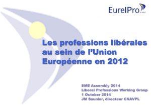 Les professions librales au sein de lUnion Europenne