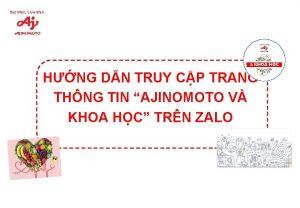HNG DN TRUY CP TRANG THNG TIN AJINOMOTO