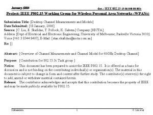 January 2006 January 2006 doc IEEE 802 15