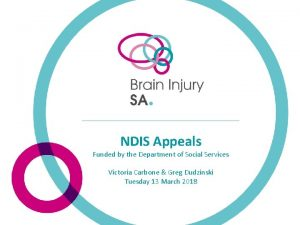 NDIS Appeals Funded by the Department of Social
