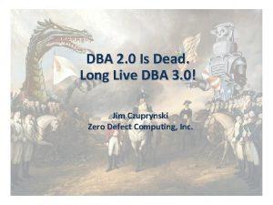 DBA 2 0 Is Dead Long Live DBA