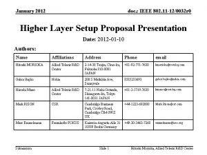 January 2012 doc IEEE 802 11 120032 r
