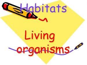 Habitats Living organisms Living organisms Humans Living organisms