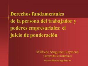 Derechos fundamentales de la persona del trabajador y