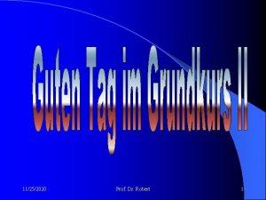 11252020 Prof Dr Robert 1 GRUNDKURS II Sozialstaat