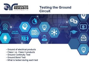 Testing the Ground Circuit Ground of electrical products