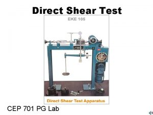 Direct Shear Test CEP 701 PG Lab Direct