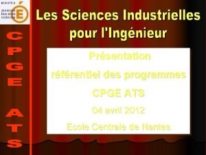 Prsentation rfrentiel des programmes CPGE ATS 04 avril