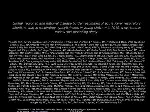 Global regional and national disease burden estimates of