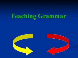 Teaching Grammar What is grammar Grammar the rules