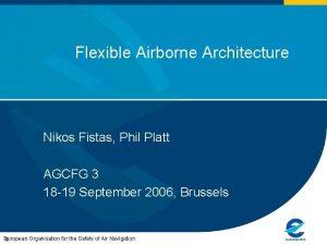 Flexible Airborne Architecture Nikos Fistas Phil Platt AGCFG