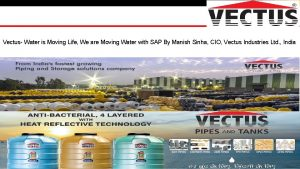Vectus Water is Moving Life We are Moving