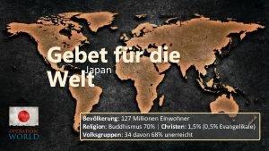 Gebet fr die Japan Welt Bevlkerung 127 Millionen