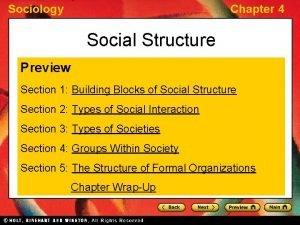 Sociology Chapter 4 Social Structure Preview Section 1
