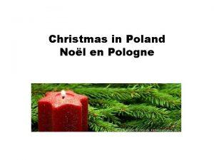 Christmas in Poland Nol en Pologne Christmas Eve