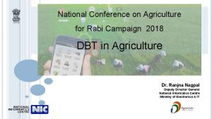 National Conference on Agriculture for Rabi Campaign 2018