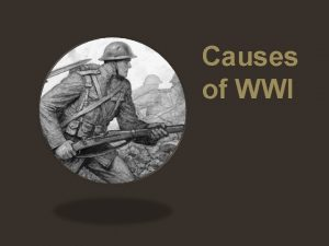 Causes of WWI at Sarajev o Sunday morning