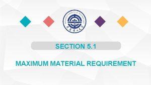SECTION 5 1 MAXIMUM MATERIAL REQUIREMENT Definition1 Maximum