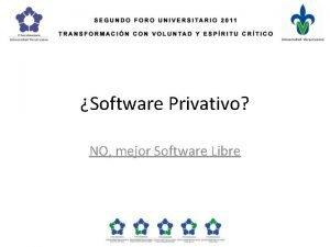 Software Privativo NO mejor Software Libre Uno de