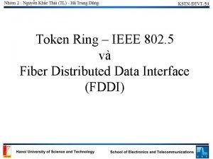 Token Ring IEEE 802 5 v Fiber Distributed