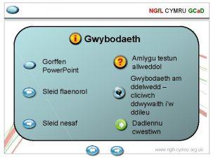 NGf L CYMRU GCa D gadael Gwybodaeth gadael