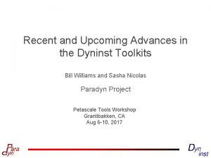 Recent and Upcoming Advances in the Dyninst Toolkits