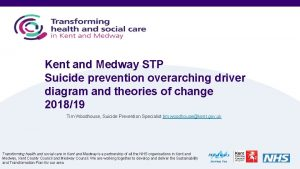 Kent and Medway STP Suicide prevention overarching driver