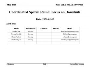 May 2020 doc IEEE 802 11 200590 r