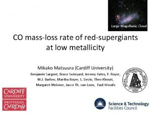 Large Magellanic Cloud CO massloss rate of redsupergiants