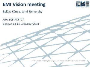 EMI Vision meeting Balzs Knya Lund University Joint