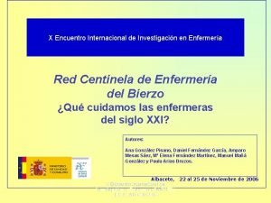 X Encuentro Internacional de Investigacin en Enfermera Red