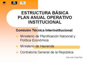 ESTRUCTURA BSICA PLAN ANUAL OPERATIVO INSTITUCIONAL Comisin Tcnica
