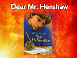 Dear Mr Henshaw Person to Person Story Strategy