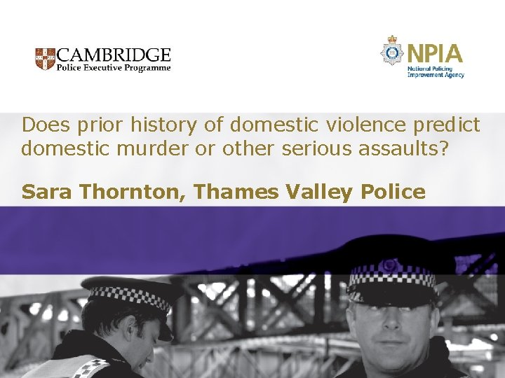 Does prior history of domestic violence predict domestic