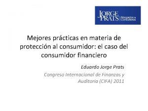 Mejores prcticas en materia de proteccin al consumidor