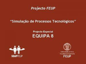 Projecto FEUP Simulao de Processos Tecnolgicos Projecto Especial