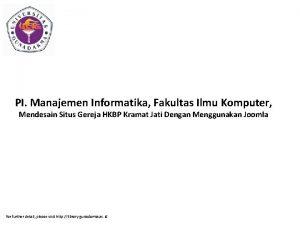 PI Manajemen Informatika Fakultas Ilmu Komputer Mendesain Situs