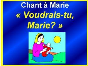 Chant Marie Voudraistu Marie 1 Dans son pays