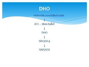 DHO Historisk overbliksforlb AT 1 1800 tallet DHO