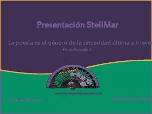 Luz Cristina by Mar Presentacin Stell Mar Desamor
