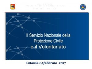 REGIONE SICILIANA DIPARTIMENTO REGIONALE DELLA PROTEZIONE CIVILE SERVIZIO