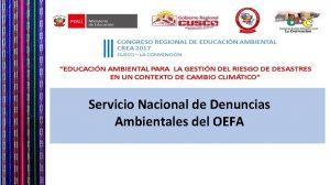 Servicio Nacional de Denuncias Ambientales del OEFA Servicio
