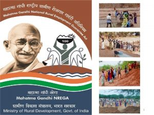1 MGNREGA Mandate Mahatma Gandhi NREGA For the
