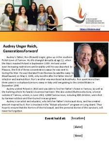 https hhrecny org Audrey Unger Reich Generations Forward