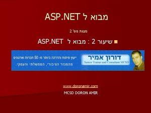 ASP NET 2 ASP NET 2 n www