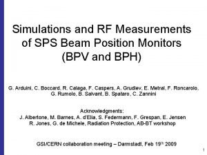 Simulations and RF Measurements of SPS Beam Position