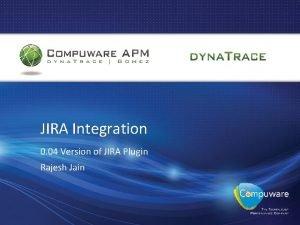 JIRA Integration 0 04 Version of JIRA Plugin