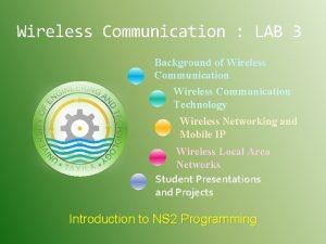 Wireless Communication LAB 3 Background of Wireless Communication