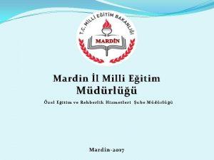 Mardin l Milli Eitim Mdrl zel Eitim ve