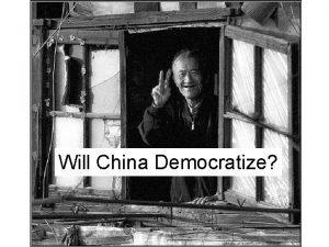 Will China Democratize Waves of Democratization A group